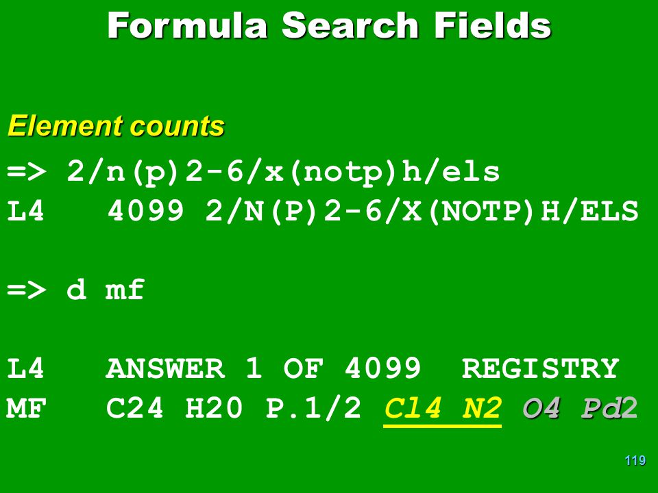 Formula Search Fields => 2/n(p)2-6/x(notp)h/els