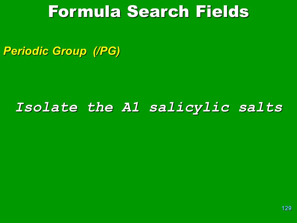 Isolate the A1 salicylic salts