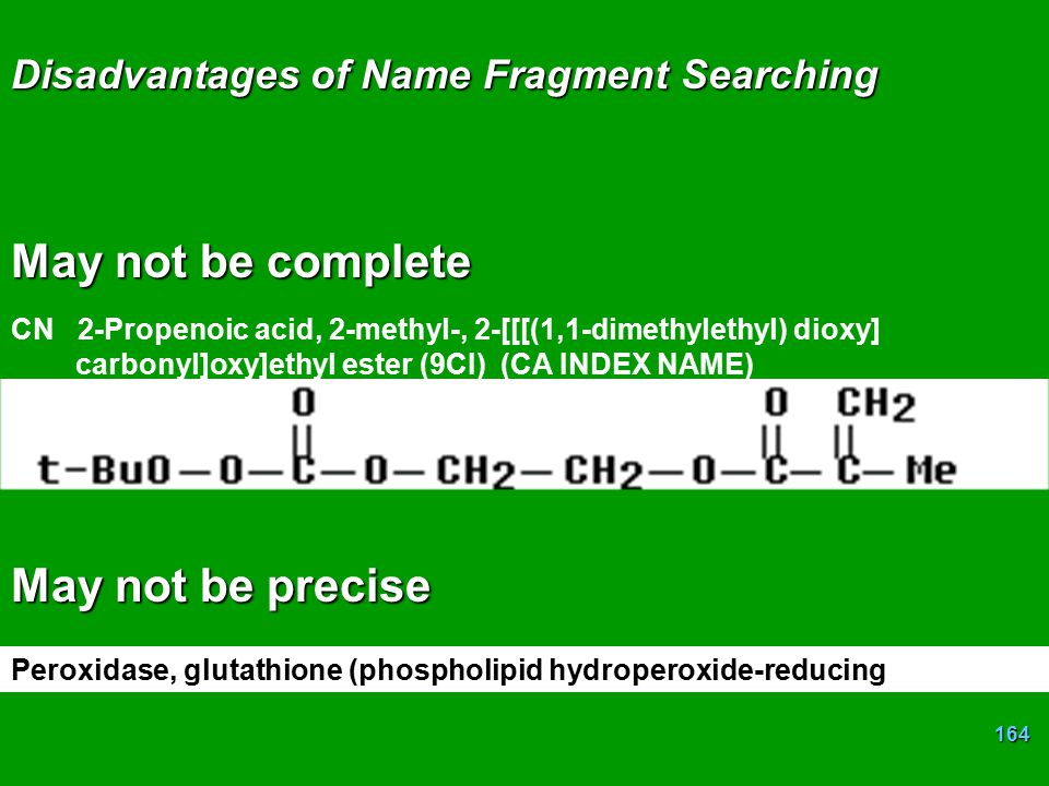 Disadvantages of Name Fragment Searching