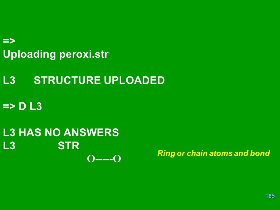 Ring or chain atoms and bond