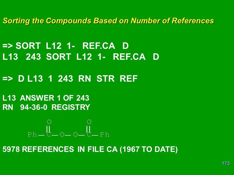 => SORT L12 1- REF.CA D L13 243 SORT L12 1- REF.CA D