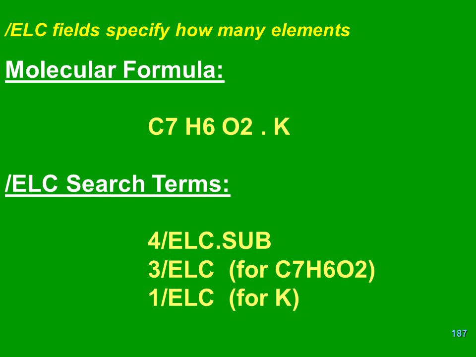 Molecular Formula: C7 H6 O2 . K /ELC Search Terms: 4/ELC.SUB