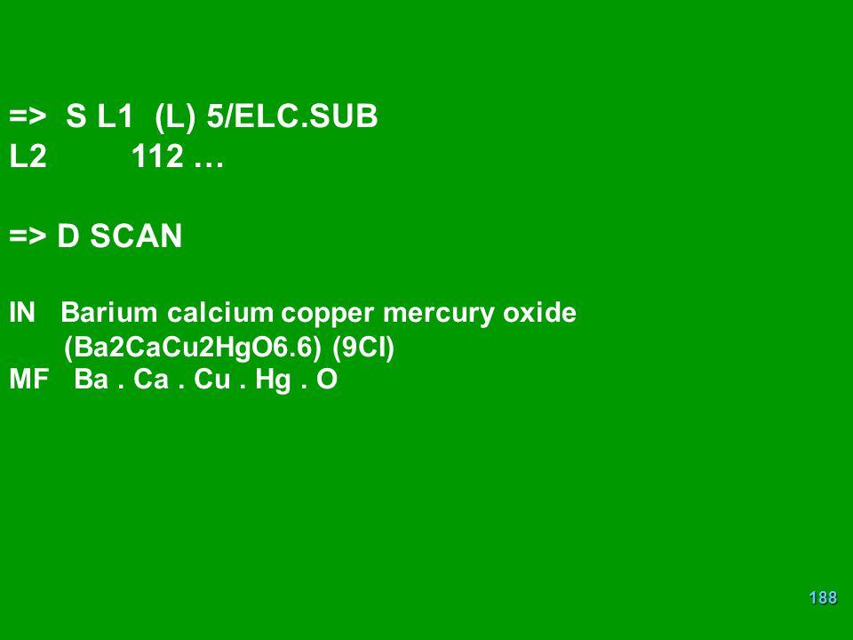 => S L1 (L) 5/ELC.SUB L2 112 … => D SCAN