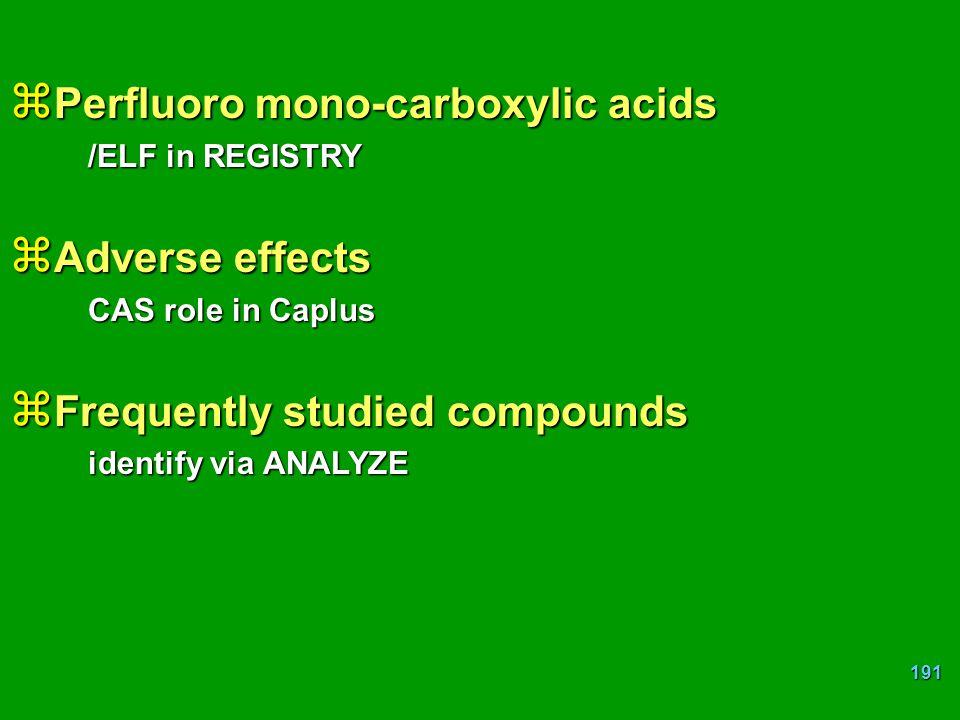 Perfluoro mono-carboxylic acids