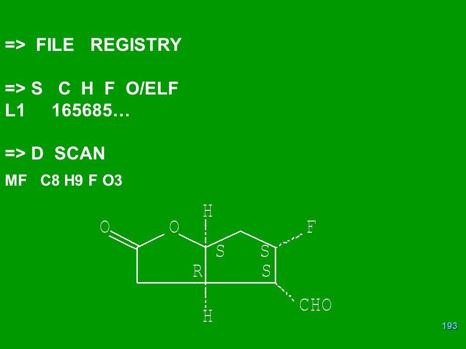 => FILE REGISTRY => S C H F O/ELF L1 165685… => D SCAN