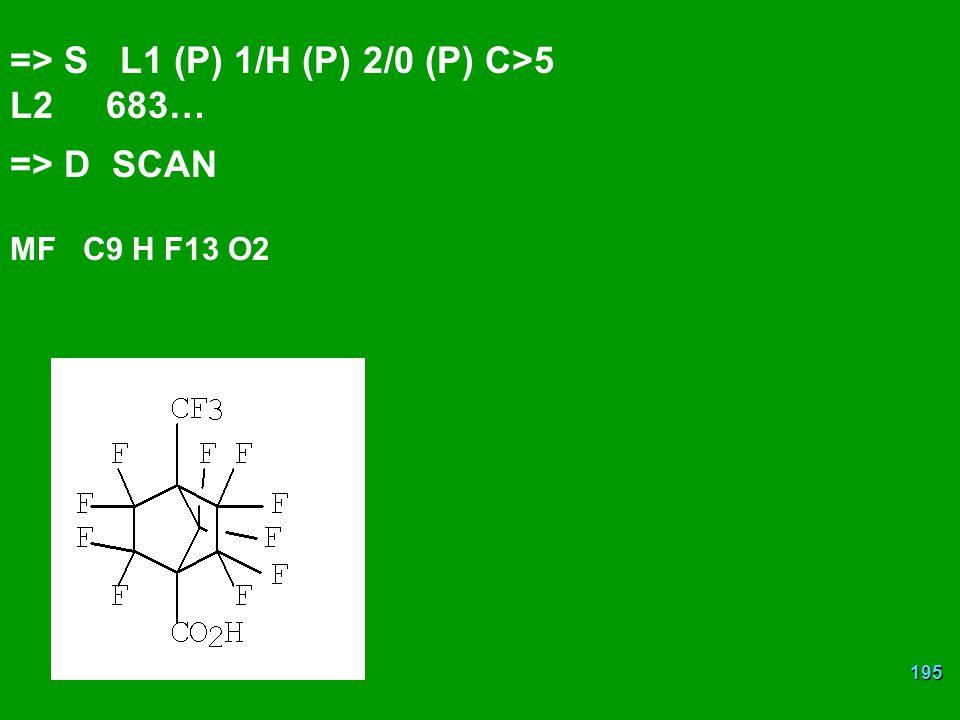 => S L1 (P) 1/H (P) 2/0 (P) C>5 L2 683…