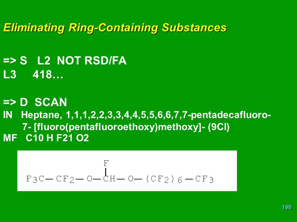 Eliminating Ring-Containing Substances