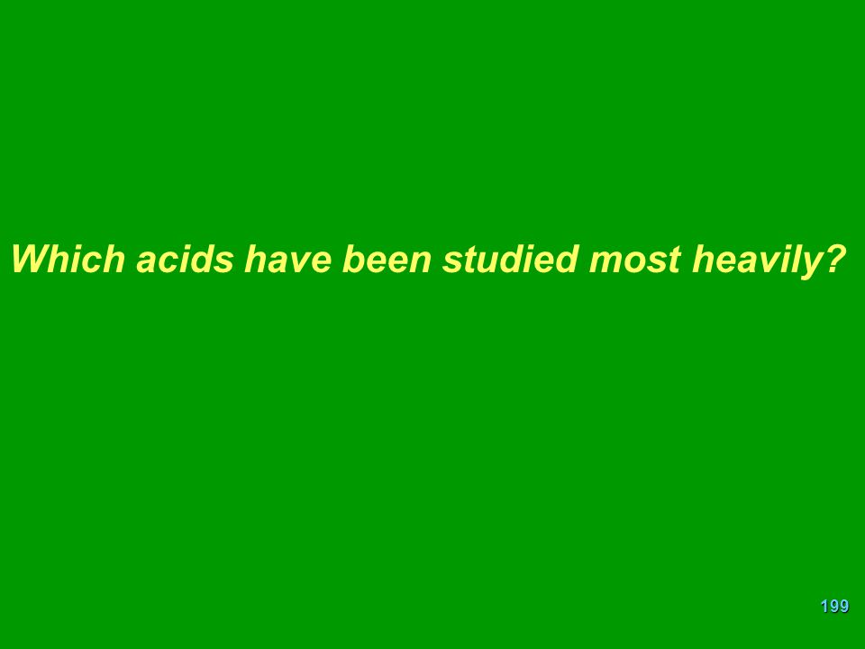Which acids have been studied most heavily