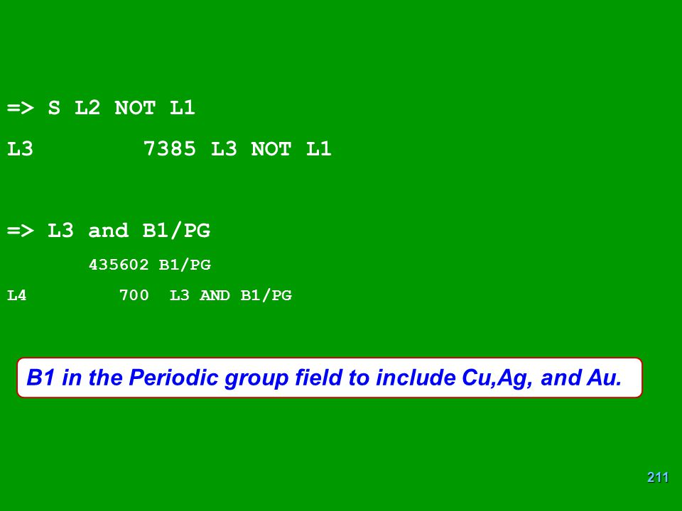 B1 in the Periodic group field to include Cu,Ag, and Au.