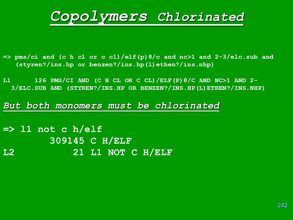 Copolymers Chlorinated
