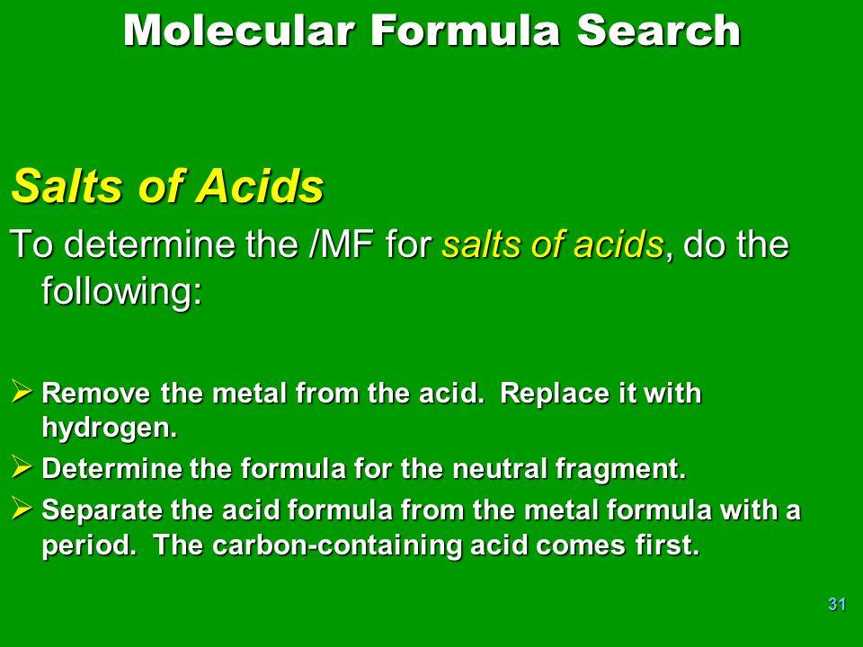 Molecular Formula Search