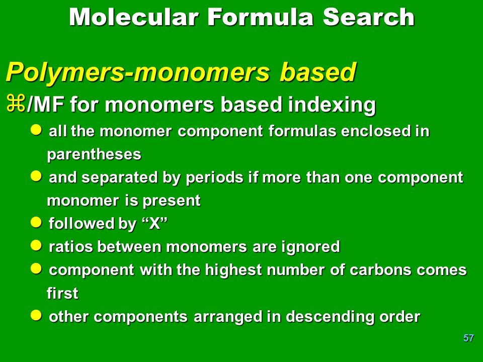 Polymers-monomers based