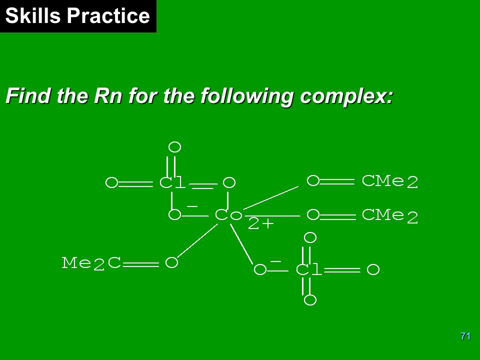 Skills Practice Find the Rn for the following complex: