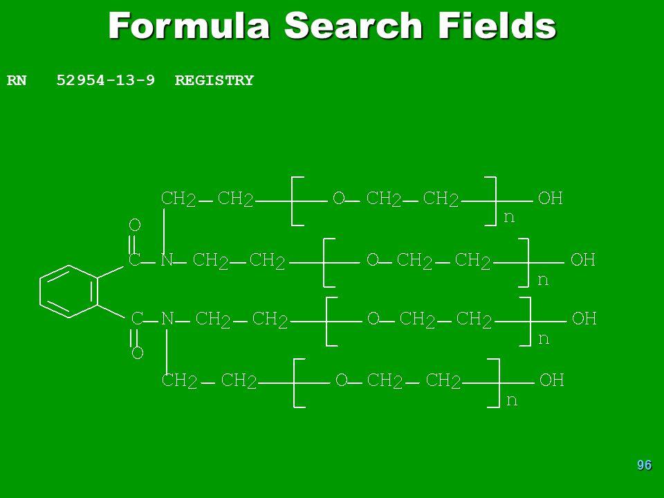 Formula Search Fields RN 52954-13-9 REGISTRY