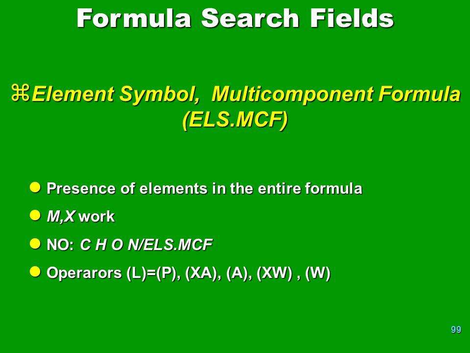 Element Symbol, Multicomponent Formula (ELS.MCF)