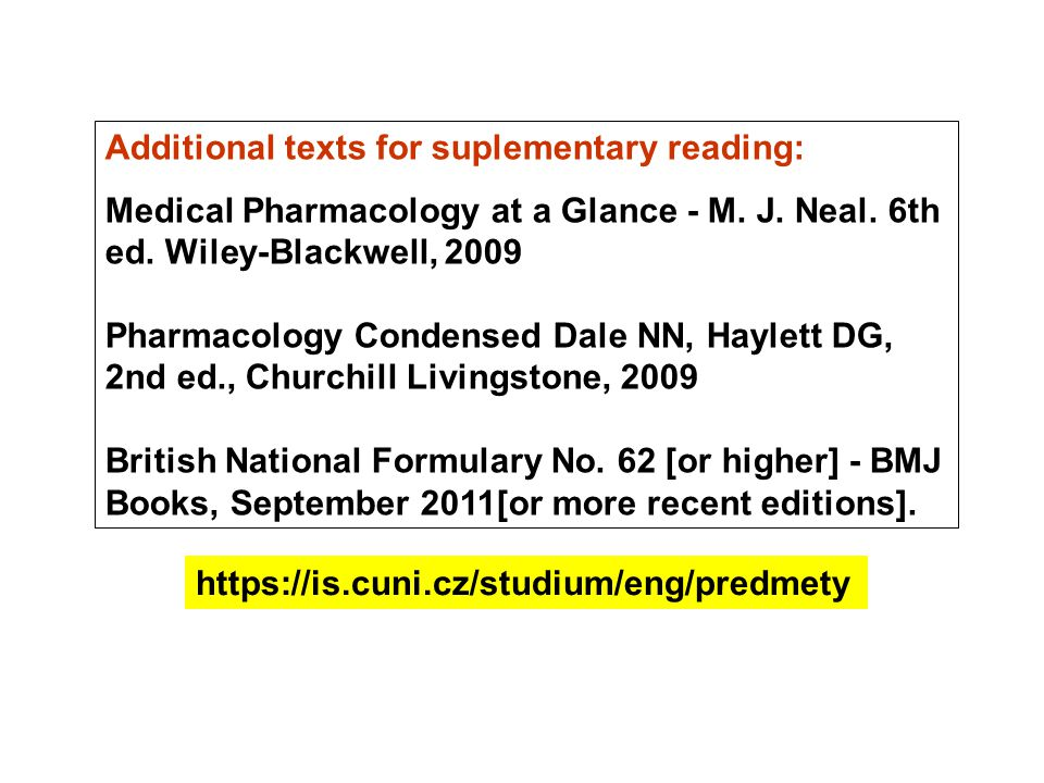 Additional texts for suplementary reading: