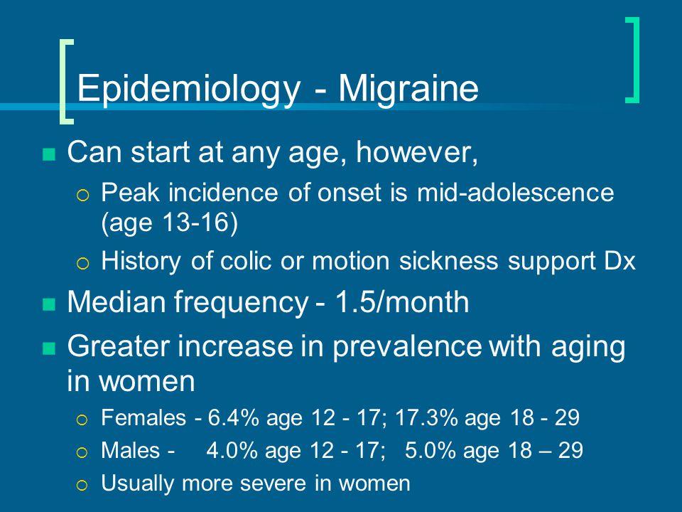 Epidemiology - Migraine