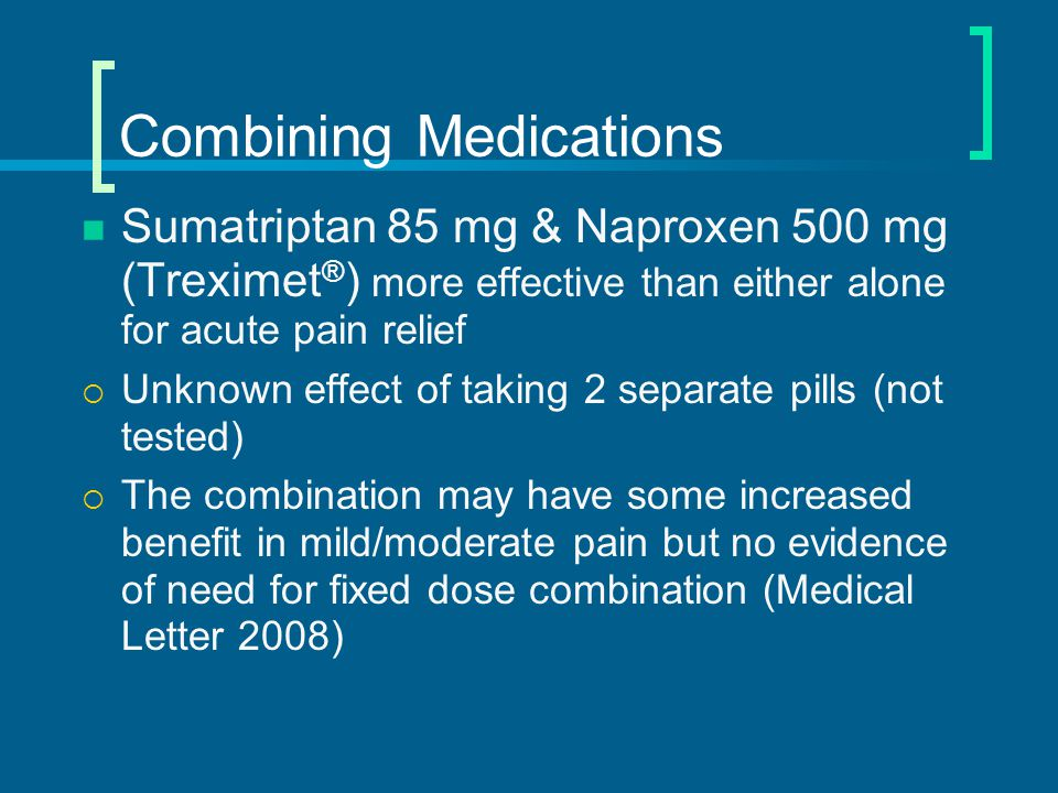Combining Medications