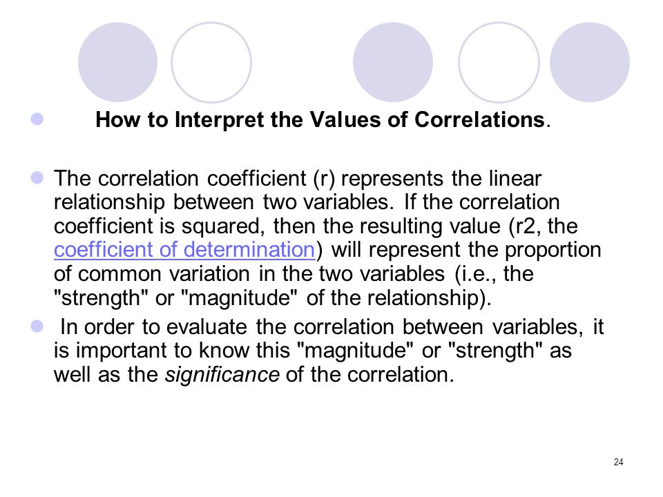 How to Interpret the Values of Correlations.
