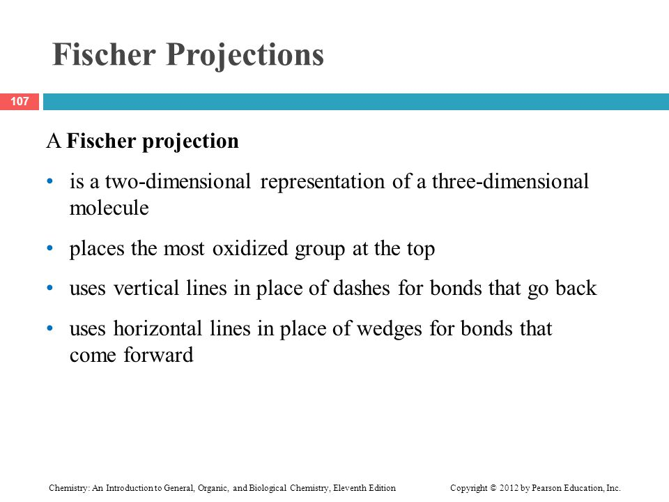 Fischer Projections A Fischer projection