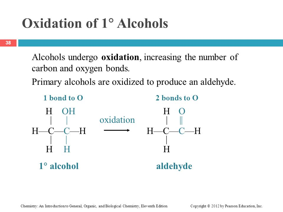 Oxidation of 1 Alcohols