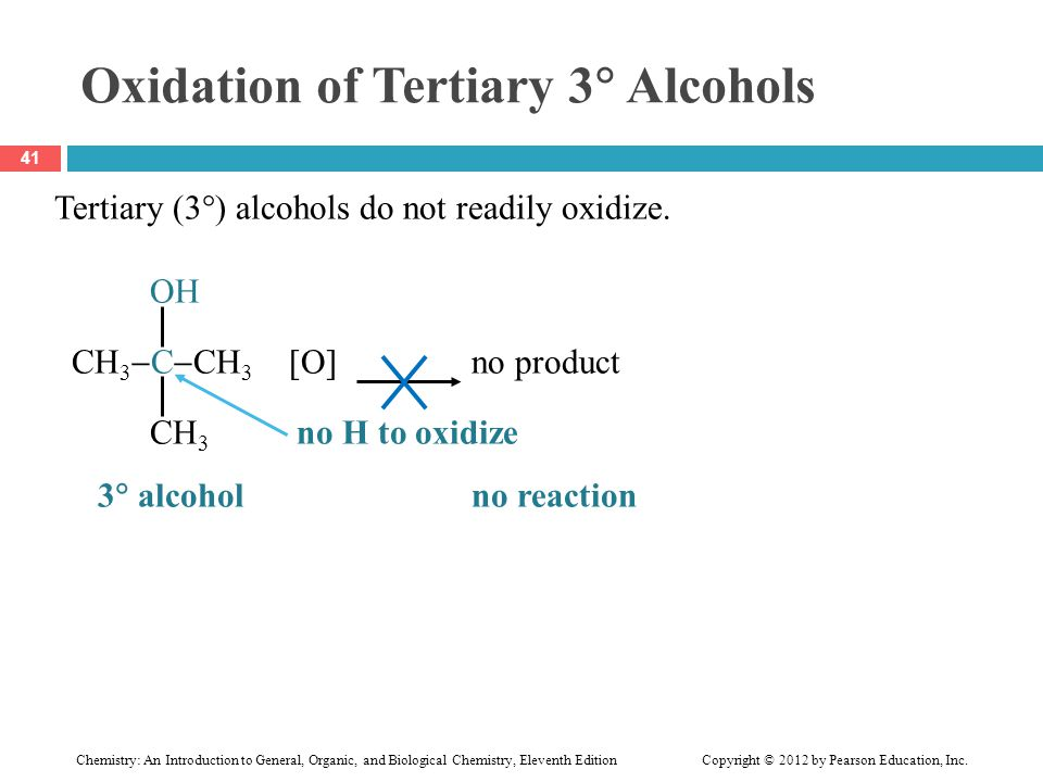 Oxidation of Tertiary 3 Alcohols
