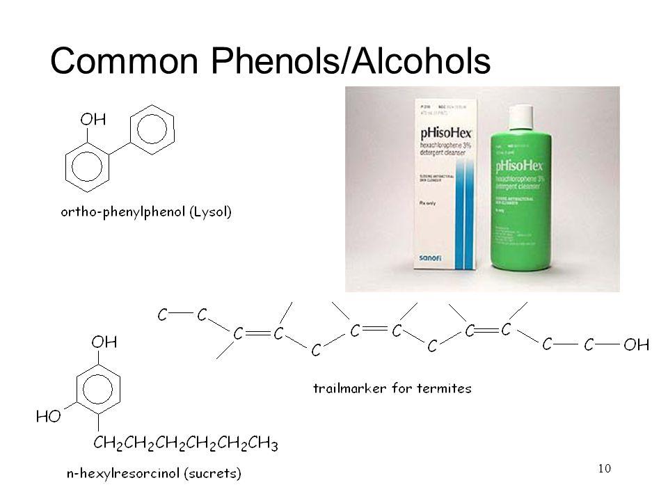 Common Phenols/Alcohols