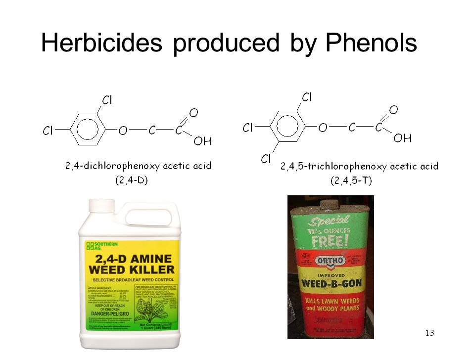 Herbicides produced by Phenols