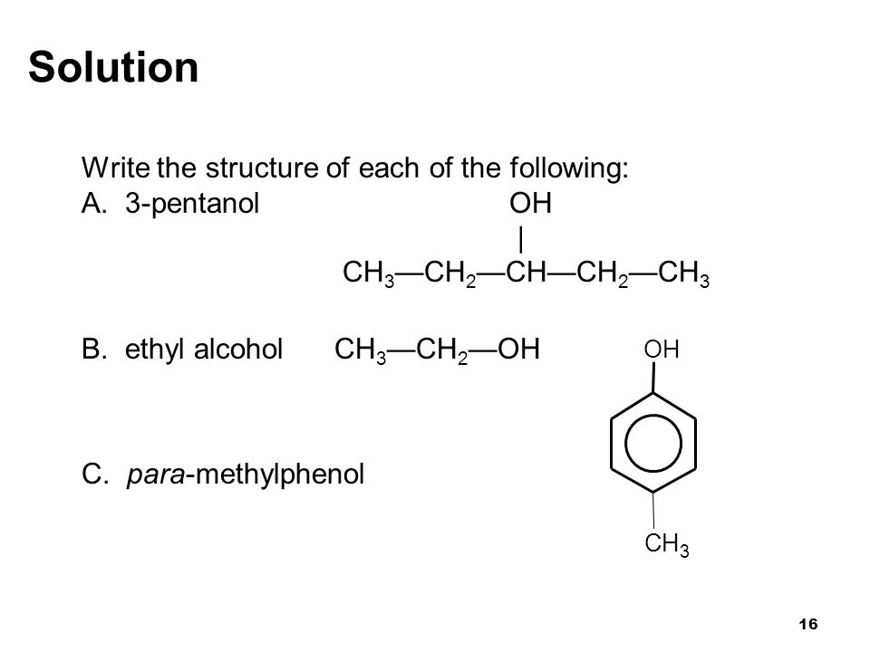 Solution Write the structure of each of the following: