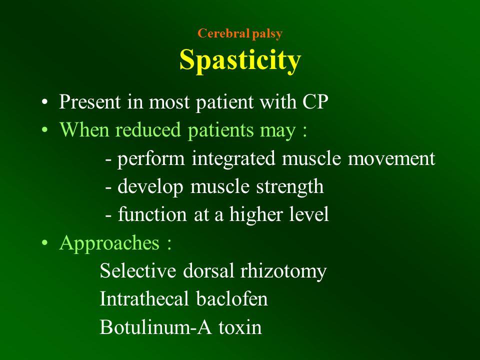 Cerebral palsy Spasticity