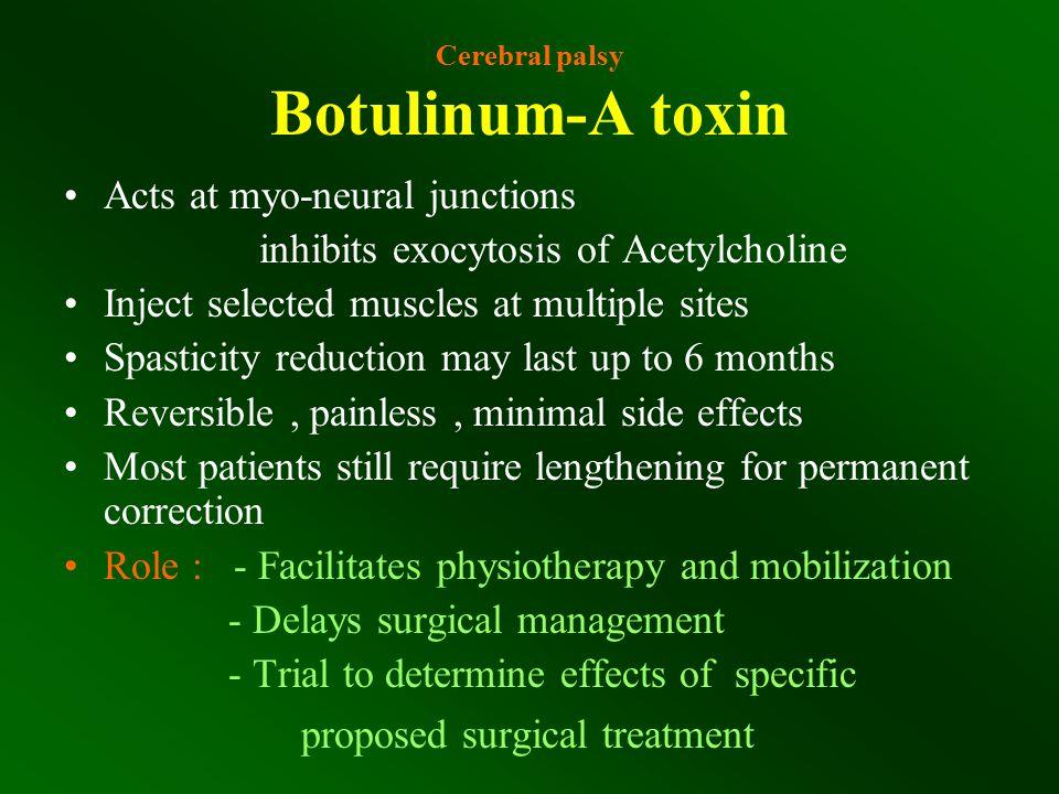 Cerebral palsy Botulinum-A toxin
