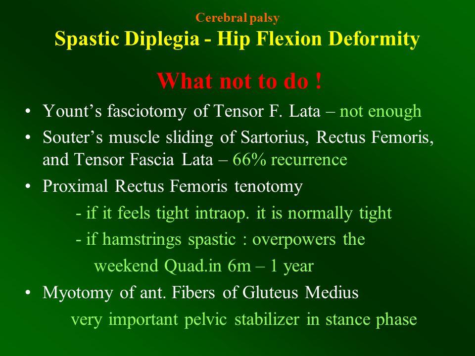 Cerebral palsy Spastic Diplegia - Hip Flexion Deformity