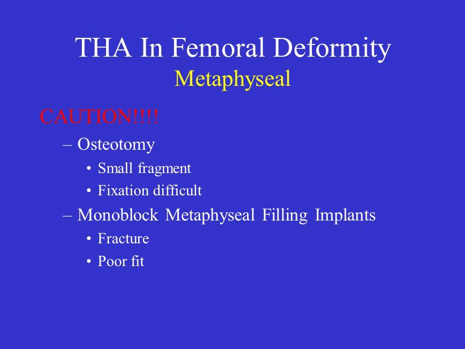 THA In Femoral Deformity Metaphyseal