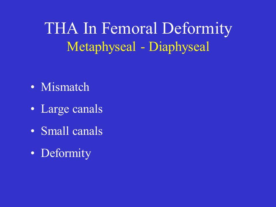 THA In Femoral Deformity Metaphyseal - Diaphyseal