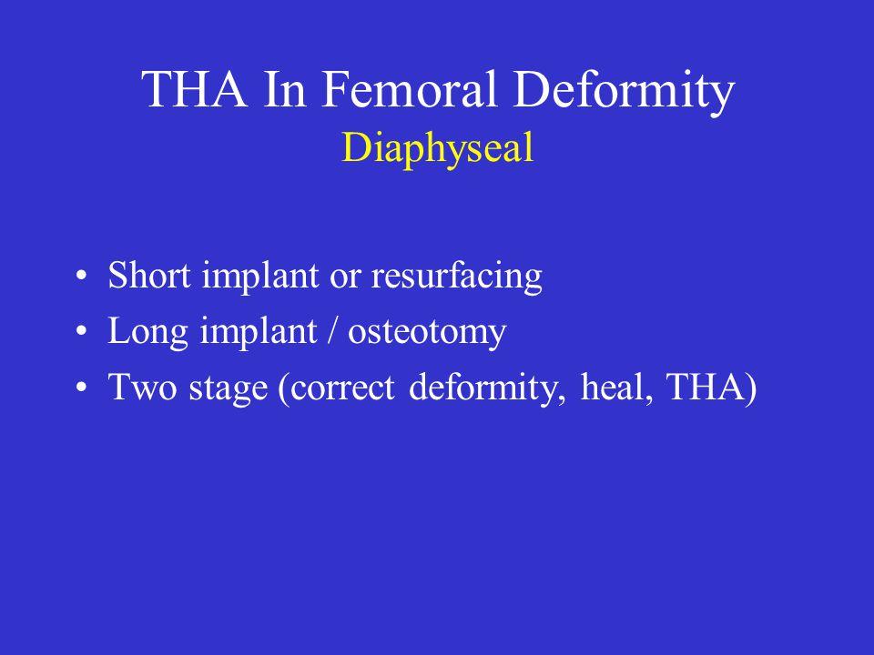 THA In Femoral Deformity Diaphyseal