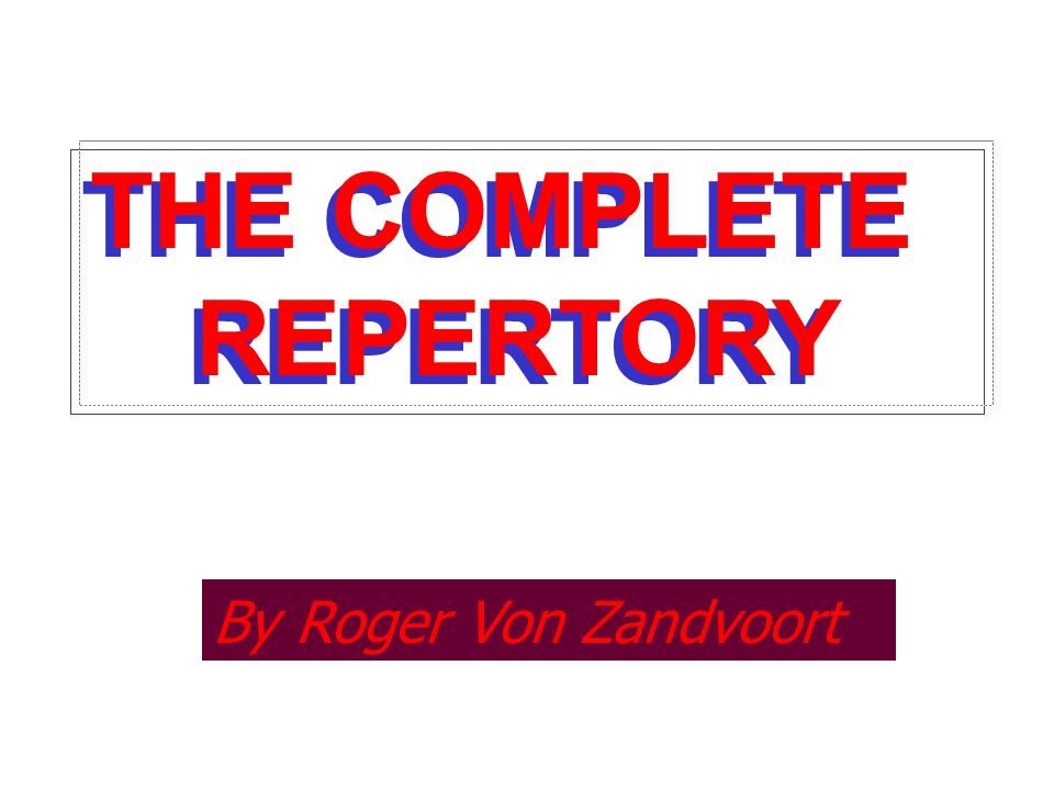 Image result for Important Clinical rubrics from Complete repertory of Roger Von Zondvoort