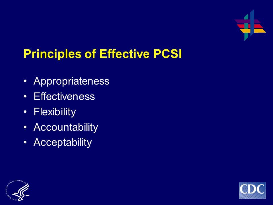 Principles of Effective PCSI