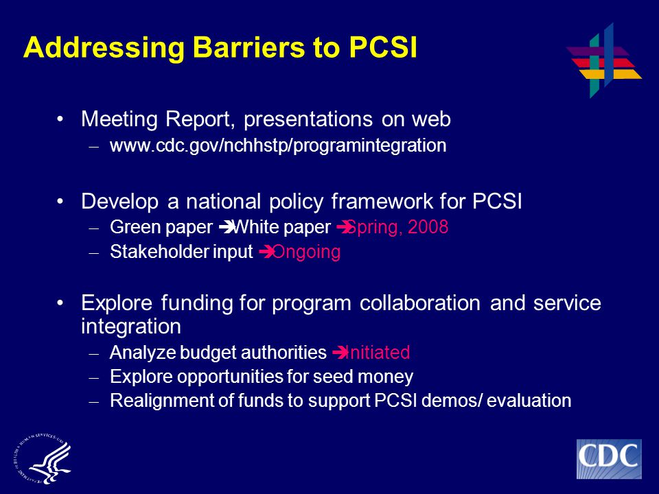 Addressing Barriers to PCSI