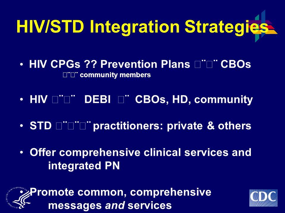 HIV/STD Integration Strategies