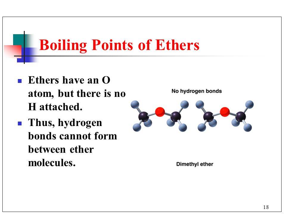 Boiling Points of Ethers