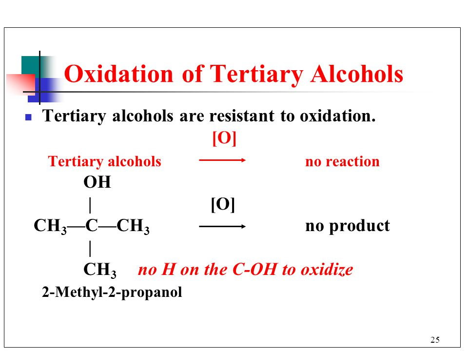 Oxidation of Tertiary Alcohols