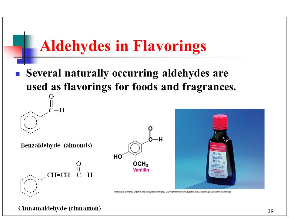 Aldehydes in Flavorings