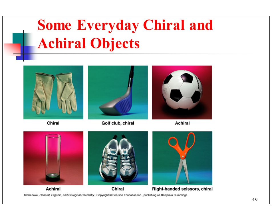 Some Everyday Chiral and Achiral Objects