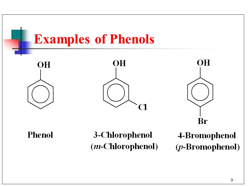 Examples of Phenols