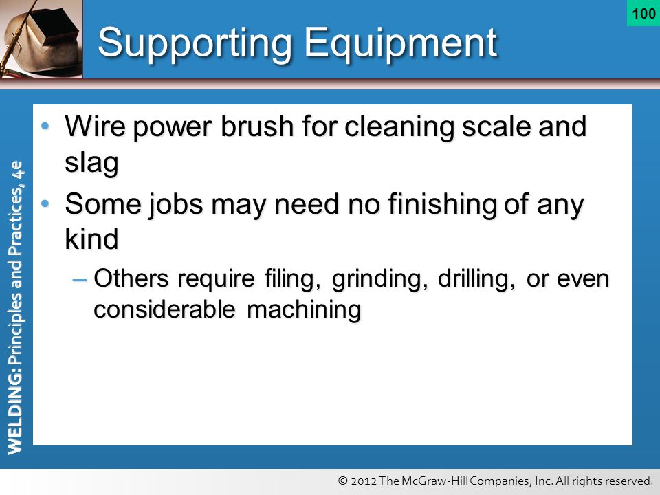 Supporting Equipment Wire power brush for cleaning scale and slag