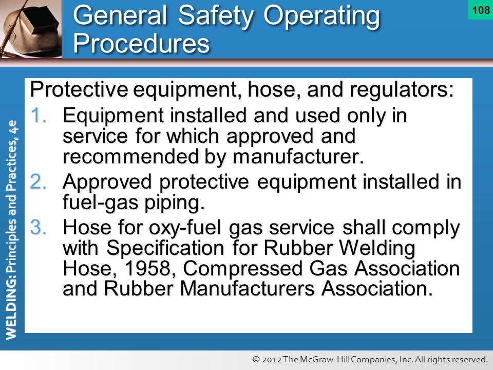 General Safety Operating Procedures