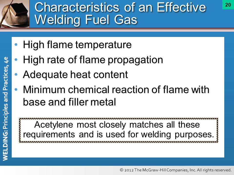 Characteristics of an Effective Welding Fuel Gas