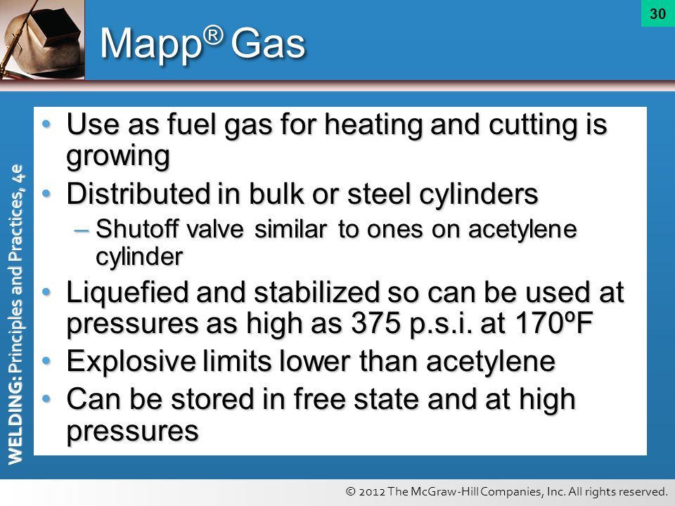 Mapp® Gas Use as fuel gas for heating and cutting is growing