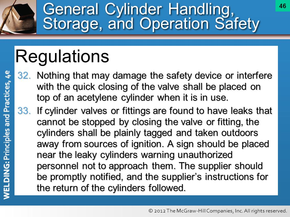 General Cylinder Handling, Storage, and Operation Safety