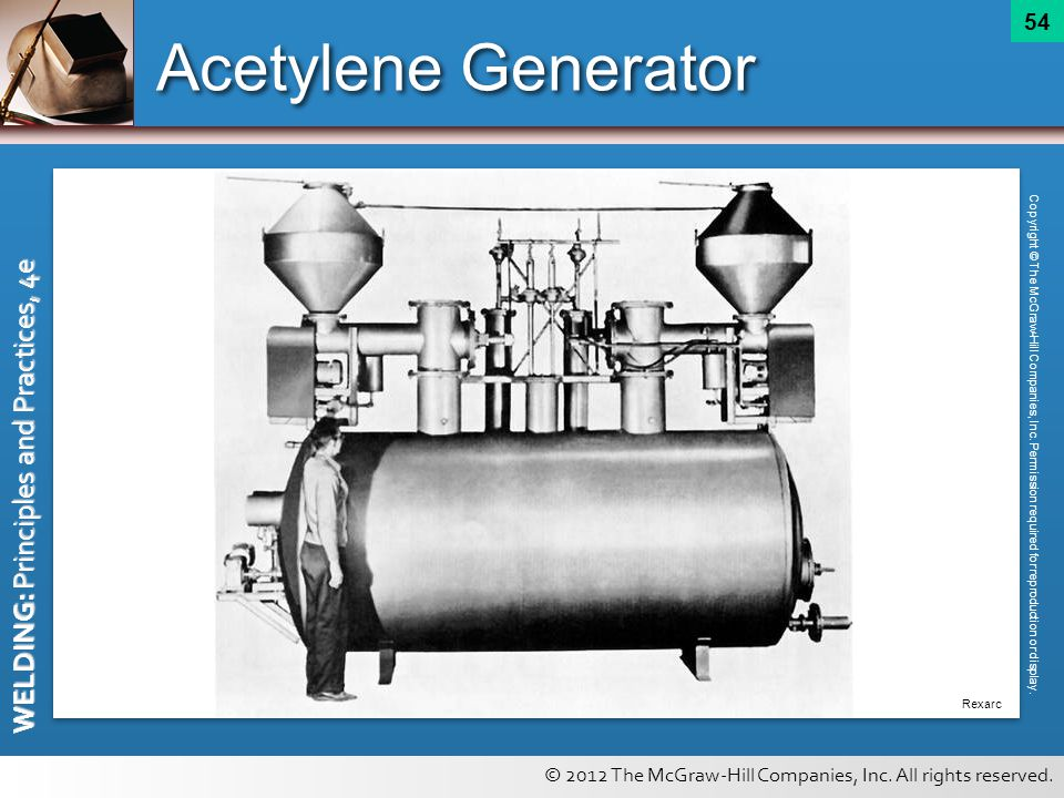 Acetylene Generator Copyright © The McGraw-Hill Companies, Inc. Permission required for reproduction or display.